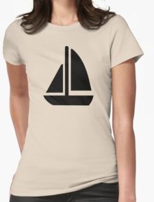 Sail boat symbol Womens Fitted T-Shirt