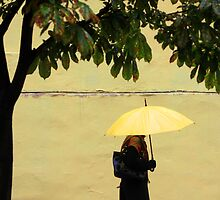 yellow umbrella by joyfull