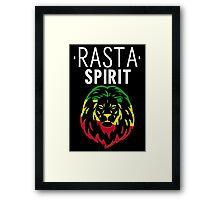 RASTA SPIRIT WHITE Framed Print