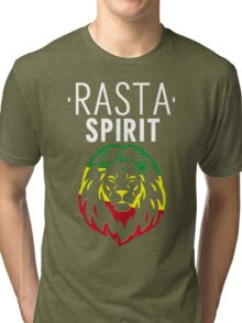 RASTA SPIRIT WHITE Tri-blend T-Shirt