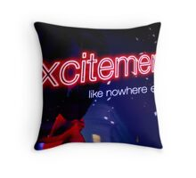 Excitement Throw Pillow