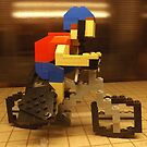 Lego Bicyclist, Lego Store Rockefeller Center, New York City  by lenspiro