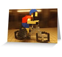 Lego Bicyclist, Lego Store Rockefeller Center, New York City  Greeting Card