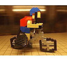 Lego Bicyclist, Lego Store Rockefeller Center, New York City  Photographic Print