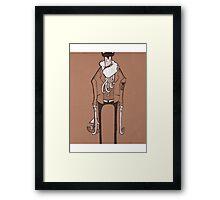 Hipster Kraken Framed Print