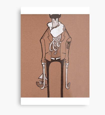 Hipster Kraken Metal Print