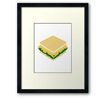 Cheese salad sandwich Framed Print