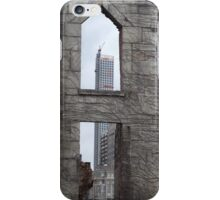 View of 432 Park Avenue Skyscraper from Roosevelt Island Hospital Ruins, New York City  iPhone Case/Skin