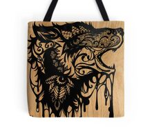 Oil Lace Wolf Tote Bag