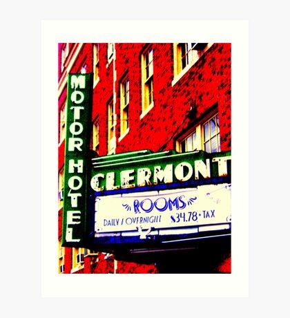 Clermont Motel Art Print