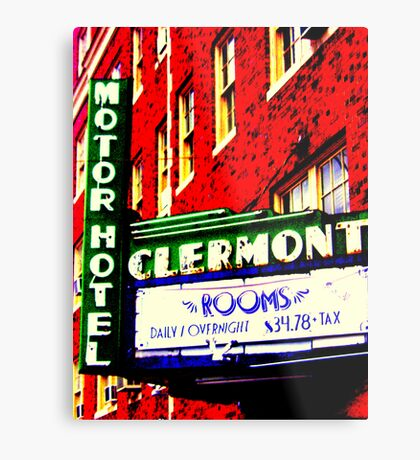 Clermont Motel Metal Print
