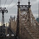 Aerial View of 59th Street Bridge, Seen from Roosevelt Island Tram, New York City  by lenspiro