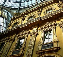 Vittorio Galleria windows, Milano by Tamara Travers