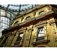 Vittorio Galleria windows, Milano Photographic Print