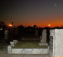 Cemetey at Dusk in New Orleans by kimbeaux1969