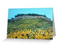 Broom Flowers, Capri Greeting Card