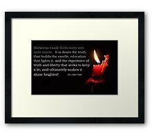 The illumination of Wisdom Framed Print
