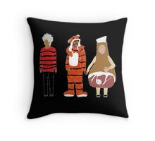 Abed Troy and Britta Halloween 2012 Throw Pillow