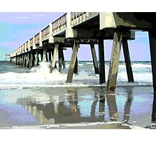 Jax Beach Fishing Pier Photographic Print