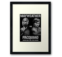 Mayweather vs Pacquiao Framed Print