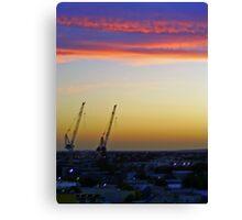 2 crane salute Canvas Print
