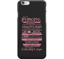 I Am a Princess (version 2) iPhone Case/Skin