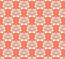 Waratah repeat on peach by bunyipdesigns