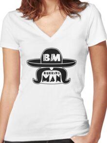 Burrito Man Women's Fitted V-Neck T-Shirt