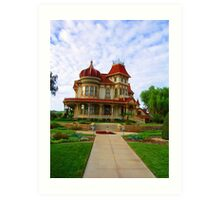 A HERITAGE HOUSE IN REDLANDS, CA Art Print