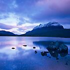 Liathach Winter Dawn reflections, Glen Torridon, Highlands, Scotland  by fineartphotos