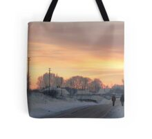 Two Farmers or Valentine in country Tote Bag