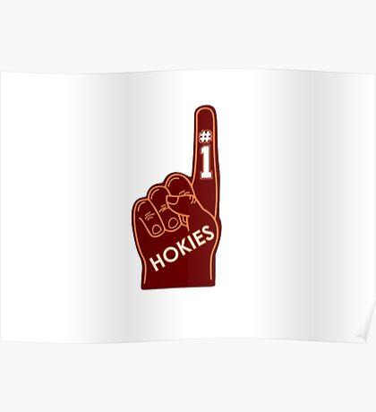 Hokies Foam Finger Poster