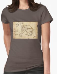 Tarzan Jane´s Sketch. Womens Fitted T-Shirt