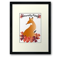Naturally Foxy Framed Print