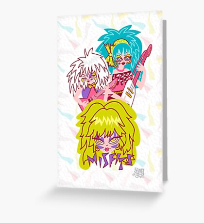 Misfits Jem and the Holograms Greeting Card