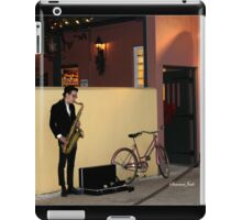 The Sax Player @ Der Pretzel Haus iPad Case/Skin