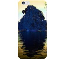Blue Tree againt Yellow Sky iPhone Case/Skin