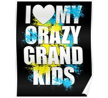 i heart my crazy grand kids Poster