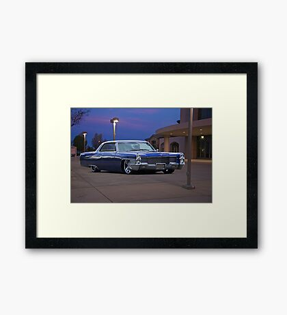 1965 Cadillac Coupe De Ville 'Low Rider' Custom Framed Print