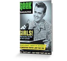 Geek Magazine Greeting Card