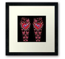 Female to Male Leggings Framed Print