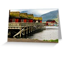 Cabins in Norway Greeting Card