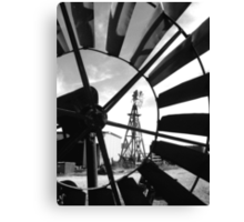 """Deja View"" Black and White Canvas Print"