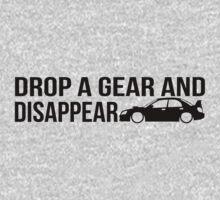 """Drop a gear and disappear"" - Subaru WRX STI One Piece - Long Sleeve"