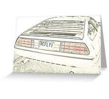 Delorean Sketch Greeting Card