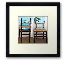 Folding Chairs I Framed Print