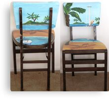 Folding Chairs I Canvas Print