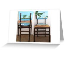 Folding Chairs I Greeting Card