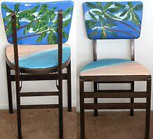 Folding Chairs II by WhiteDove Studio kj gordon