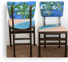 Folding Chairs II Canvas Print
